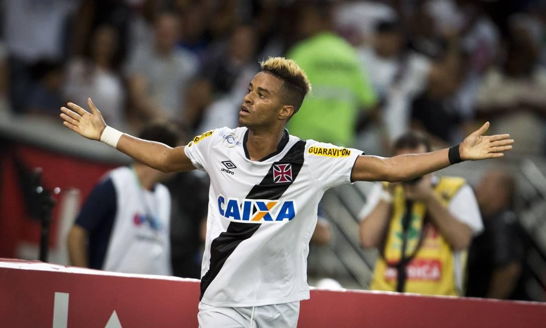 Rafael Silva festeja o gol decisivo na vitória do Vasco por 1 a 0 sobre o Botafogo, aos 46 minutos do 1º jogo da final do Carioca Guito Moreto / Agência O Globo