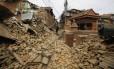 Destruição em Bhaktapur, no Nepal