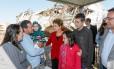 Presidenta Dilma Rousseff durante visita às áreas atingidas por tornado