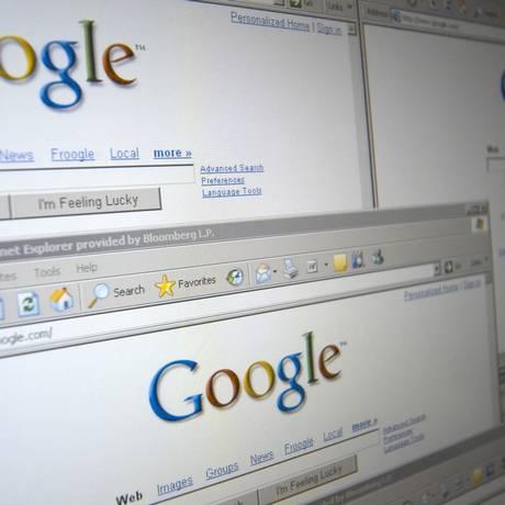 Páginas da ferramenta de buscas da Google Foto: ADRIAN BROWN / BLOOMBERG NEWS