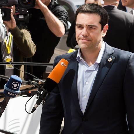 Alexis Tsipras, primeiro-ministro grego Foto: Geert Vanden Wijngaert / AP