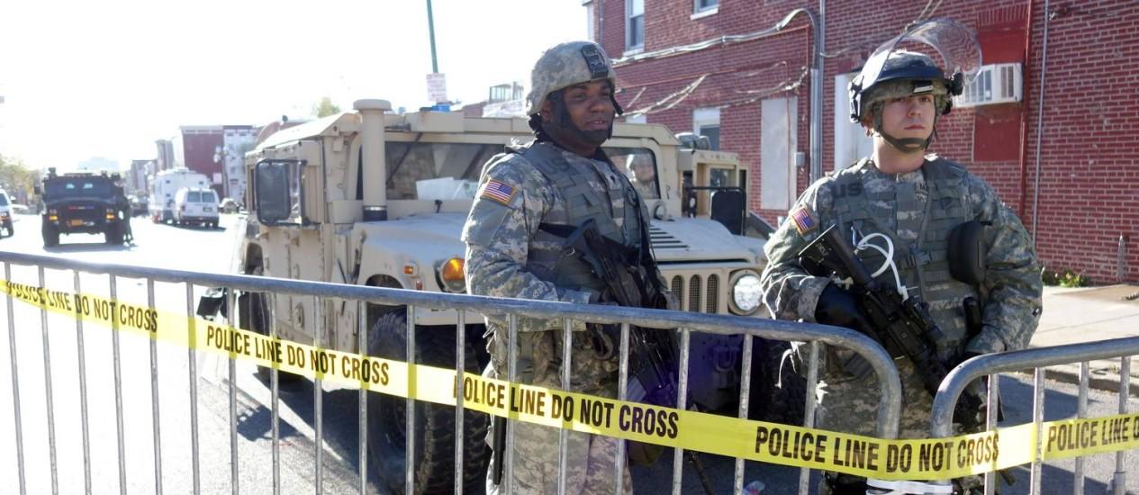 Guarda Nacional teve de dar apoio após polícia e estado não conseguirem conter protestos Foto: William Edwards / AFP