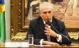 O Vice Presidente da República, Michel Temer, durante comissão sobre reforma política.