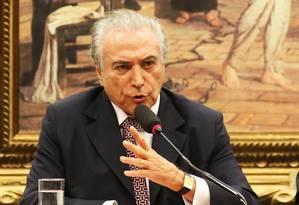 O Vice Presidente da República, Michel Temer, durante comissão sobre reforma política. Foto: Ailton de Freitas / Agência O Globo
