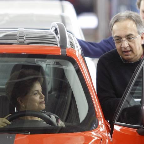 Dilma participa da cerimônia de inauguração da fábrica da Jeep, em Goiana (PE) Foto: Hans von Manteuffel