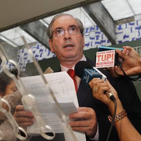 Cunha nega ter feito requerimentos de pedidos de informação sobre a Mitsui Foto: Givaldo Barbosa / Agência O Globo