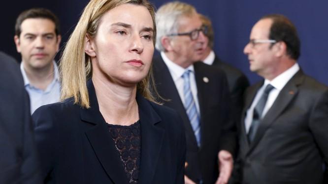 Federica Mogherini. Chefe de política externa da União Europeia defendeu uma maior participação do Irã nas negociações pelo fim da guerra civil na Síria Foto: FRANCOIS LENOIR / REUTERS