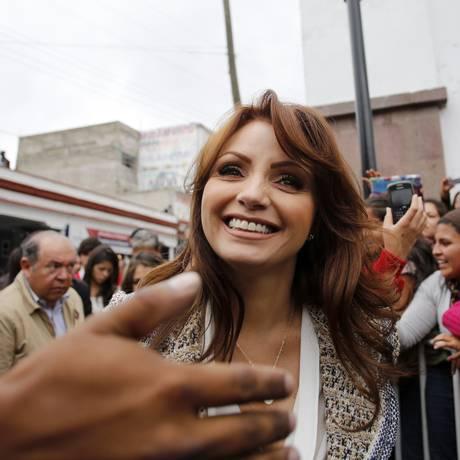Angélica Rivera, mulher do presidente mexicano Enrique Peña Nieto Foto: REUTERS/ 1-7-2012
