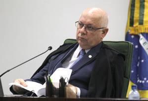 Ministro Teori Zavasck, durante sessão da segunda do Supremo Foto: Givaldo Barbosa / Agência O Globo