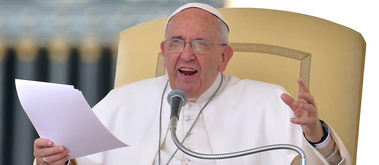 Papa na audiência desta quarta-feira no Vaticano Foto: VINCENZO PINTO / AFP