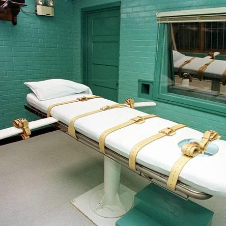 Câmara de execução no Texas, onde condenados à pena de morte também são mortos por injeção letal Foto: PAUL BUCK / AFP