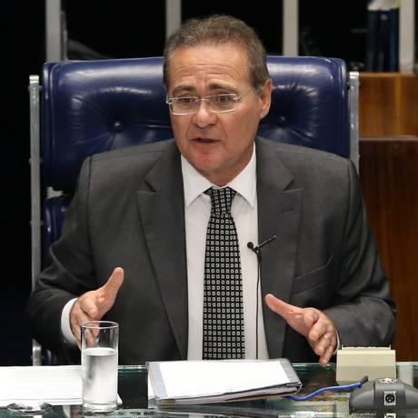 O Presidente do Senado Renan Calheiros Foto: Ailton de Freitas / Agência O Globo