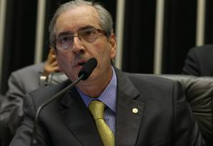 O deputado Eduardo Cunha, presidente da Câmara Foto: Ailton de Freitas