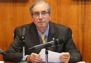 O presidente da Câmara, Eduardo Cunha (PMDB-RJ) Foto: Ailton de Freitas