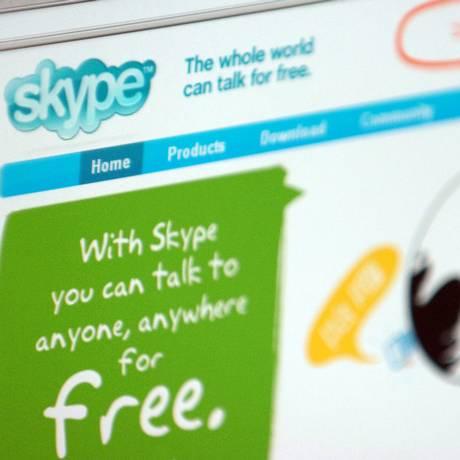 Página do Skype Foto: ADAM BERRY / BLOOMBERG NEWS
