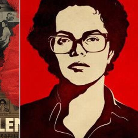 A imagem de Dilma à esquerda foi usada na campanha da presidente; a outra é o trabalho do ilustrador Sattu Rodrigues Foto: Divulgação