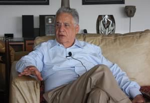 O ex-presidente Fernando Henrique Cardoso Foto: Divulgação