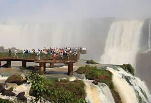Foz do Iguaçu ganha ligação aérea com outros cartões-postais sul-americanos Foto: Eduardo Maia / O Globo