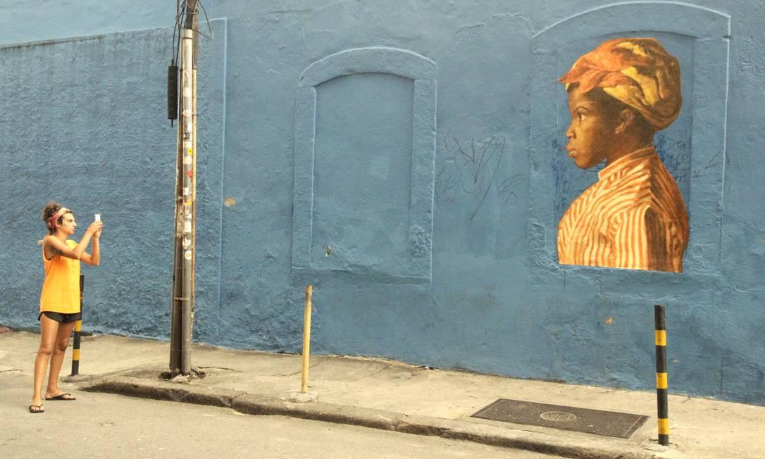 Imagem do projeto 'Outings' no Rio: arte para um número maior de pessoas Foto: Divulgação/Lea Dillard