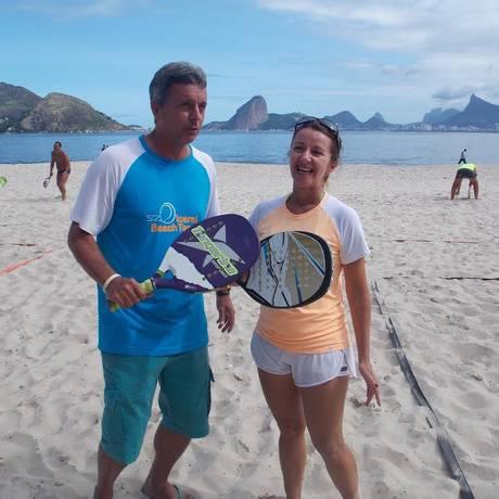 Presidente do IBT, Murilinho e Rosilene Monteiro disputam o Desafio dos Points na categoria amadores Foto: Agência O Globo / Paulo Roberto Araújo