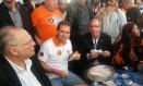 O presidente da Câmara, Eduardo Cunha, participa do ato da Força Sindical do Dia do Trabalhador, em São Paulo Foto: Julianna Granjeia
