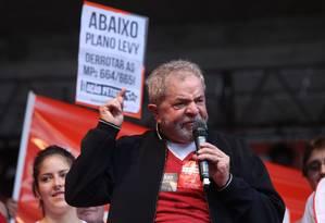 Ex-presidente criticou a imprensa e a elite brasileira Foto: Marcos Alves / Agência O Globo