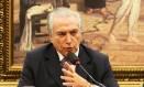 O vice-presidente Michel Temer, articulador político do governo, pede união do PT quanto às MPs do ajuste fiscal Foto: Ailton de Freitas / O Globo