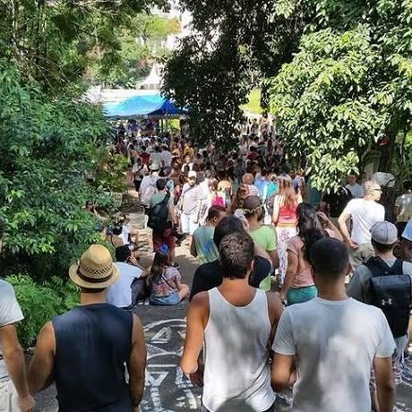Ativistas fazem ocupações constantes no terreno onde querem construir o Parque Augusta Foto: Divulgação