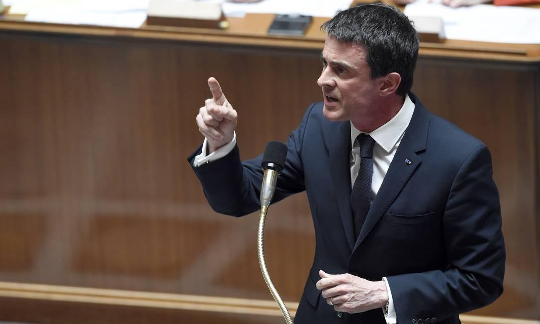 Manuel Valls articulou a proposta do governo na Câmara Foto: ALAIN JOCARD / AFP