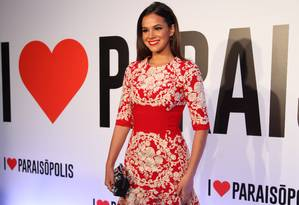 Bruna Marquezine no lançamento da novela 'I love Paraisópolis' Foto: TV Globo//Fabiano Battaglin