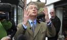 Nigel Farage: caras e bocas Foto: Gareth Fuller / AP