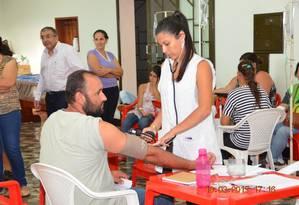 Paciente recebe atendimento em Candido Mota, São Paulo Foto: Divulgação
