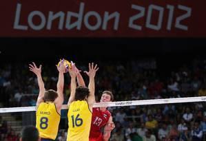 Final do vôlei masculino entre Brasil e Rússia nas Olimpíadas de Londres Foto: Ivo Gonzalez/28-8-2012