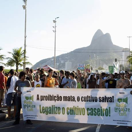 Cultivo caseiro é uma das reivindicações da Marcha da Maconha deste ano Foto: Fabio Rossi / Agência O Globo