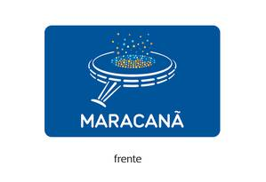 Modelo de cartão recarregável com que torcedores poderão adquirir ingressos para o Maracanã Foto: Divulgação
