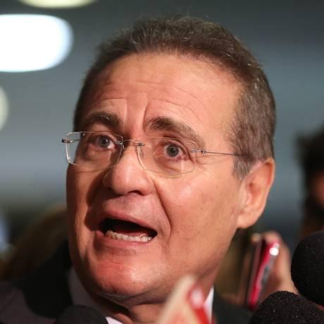 O presidente do Senado, Renan Calheiros (PMDB-AL) Foto: Ailton de Freitas / O Globo