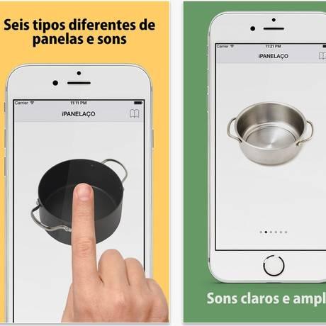 O aplicativo iPanelaço pode reproduzir o som de panelas no celular Foto: Reprodução internet