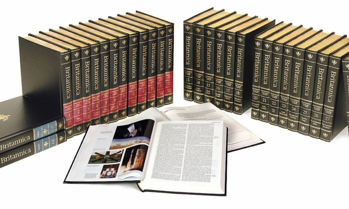 Coleção completa da Enciclopédia Britânica Foto: Divulgação / REUTERS