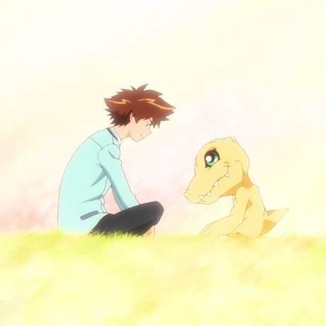 Trecho do trailer de 'Digimon Adventure Tri' mostra reencontro do protagonista com seu digimon Foto: Reprodução