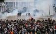 Protesto de professores em Curitiba na última quarta-feira em frente à Alep