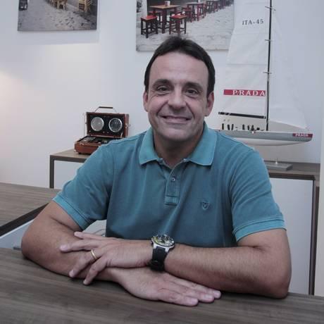 Luis Eduardo em seu escritório Foto: Fernanda Dias / Fernanda Dias