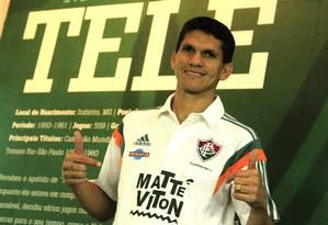 Magno Alves em sua apresentação no Fluminense Foto: Nelson Perez / Divulgação/Fluminense