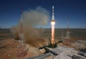Rússia lançou a Progress 59 em 28 de abril deste ano, em uma missão para entregar três toneladas de suprimentos para a Estação Espacial Internacional. A nave espacial sofreu uma avaria grave depois de atingir a órbita e está caindo do espaço Foto: Agência Espacial Federal Russa / Agência Espacial Federal Russa