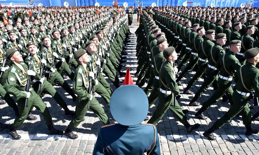 A participação do país no conflito é considerada fundamental para a vitória sobre os nazistas KIRILL KUDRYAVTSEV / AFP