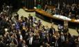 Sessão da Câmara que aprovou a votação da Medida Provisória 665/14, que muda as regras de concessão do seguro-desemprego