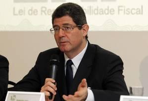 Ministro da Fazenda, Joaquim Levy, durante nesta quinta-feira Foto: Givaldo Barbosa / Agência O Globo