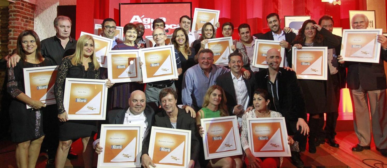 Os vencedores do Prêmio Água na Boca, em Niterói, em 2014 Foto: Márcio Alves / Agência O Globo