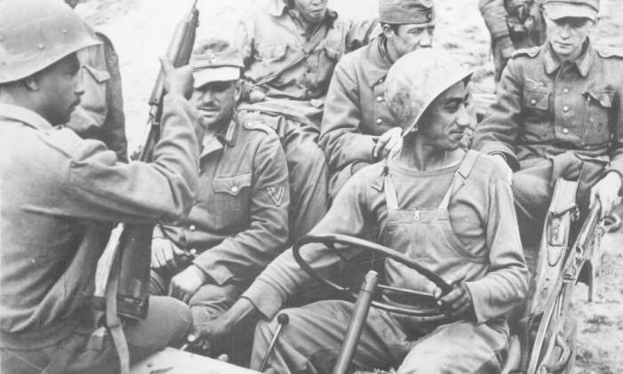 Força Expedicionária Brasileira: Graduados alemães capturados pela FEB e levados para retaguarda Foto: Divulgação