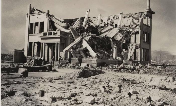 Hiroshima, após o ataque nuclear em 1945. Foto: Agência O Globo