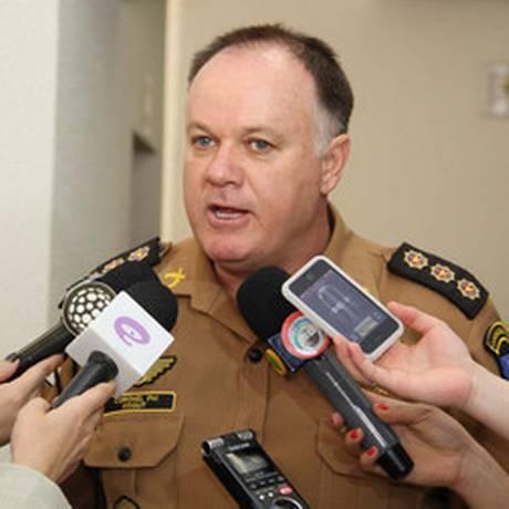 O comandante-geral da Polícia Miliar, coronel César Vinicius Kogut, pede exoneração do cargo por dificuldade administrativa com a secretaria de Segurança Foto: Divulgação Governo PR